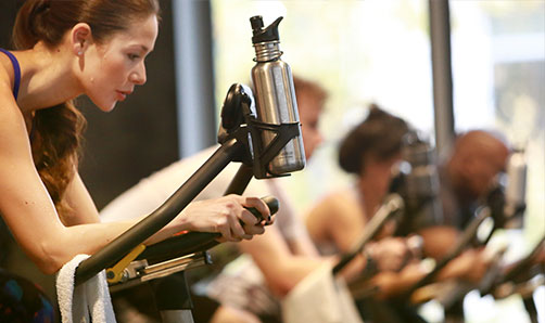 Cycling class at ZUM Fitness in the heart of downtown Seattle