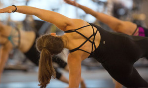 Pilates class at ZUM Fitness in the heart of downtown Seattle.
