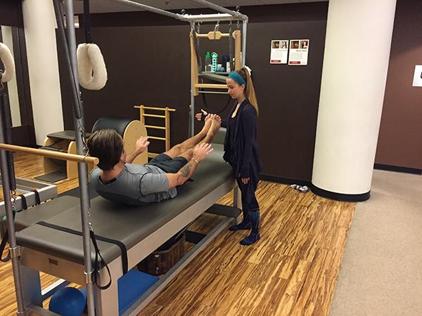 Personal pilates training at ZUM Fitness