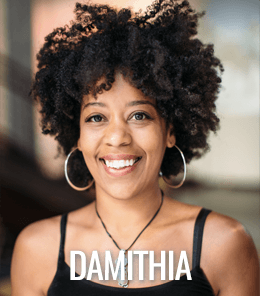 Damithia Nieves teaches yoga in the best Seattle yoga studio.