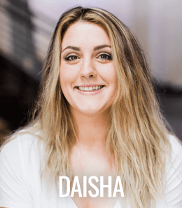 Daisha incorporates lessons from that training and her own Svadhaya, or self-study, into her daily practice and classes. Blending western and traditional aspects of Ashtanga yoga, she is excited to continue her journey as a student and a teacher at Zum.